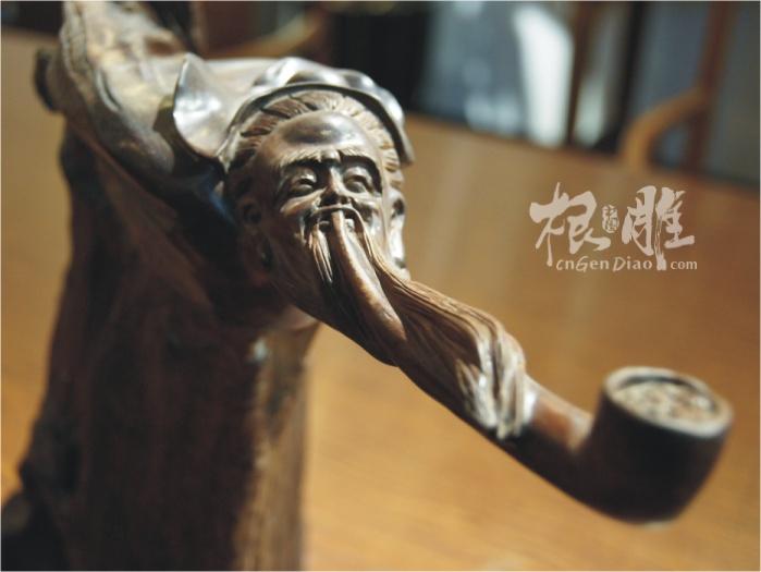 中国根雕再推荐吴杰的作品:酸枝-就好这一口,收藏价1万3左右,有兴趣