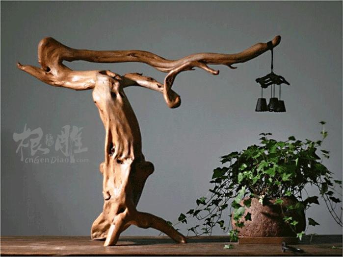 根雕艺术摆件欣赏