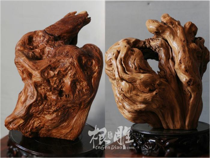 崖柏纹理艺术欣赏-中国根雕