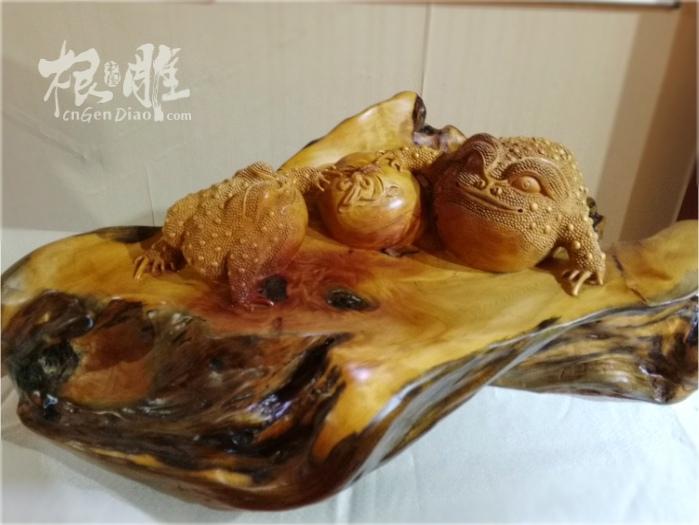 中国台湾木根雕作品欣赏