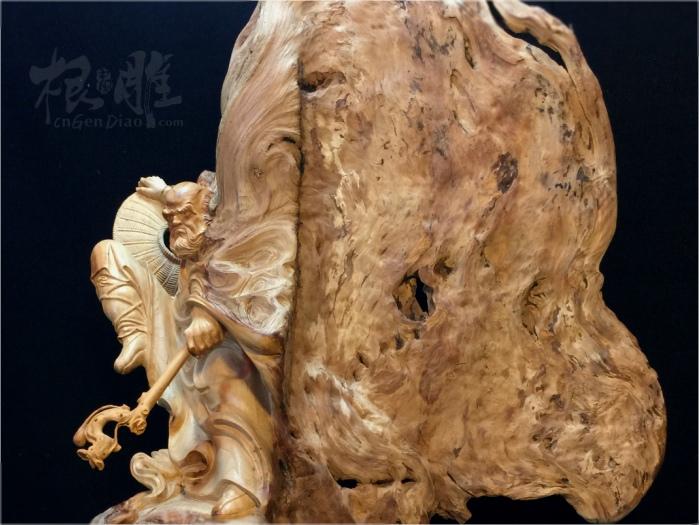 根雕新闻  中国根雕推荐欣赏来自福建仙游90后年轻根艺人陈宇-崖柏