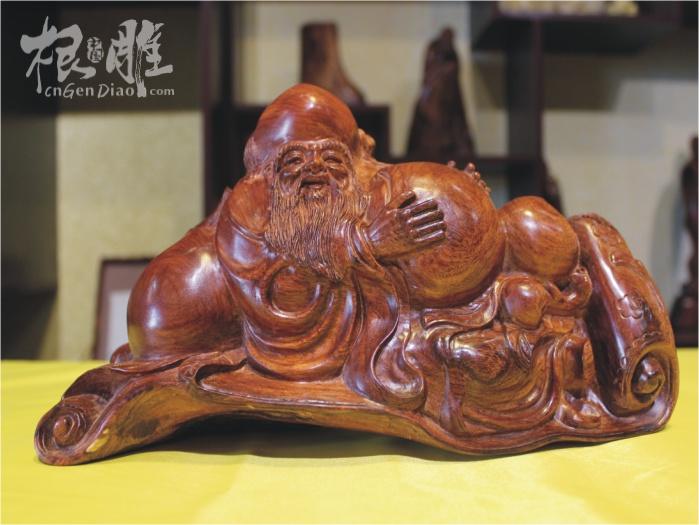 木雕寿星二