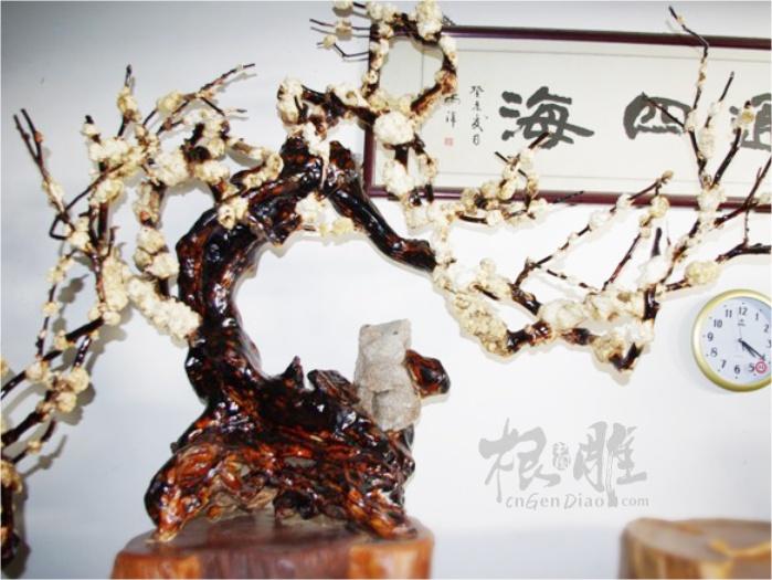 根雕图片-实木根艺梅花